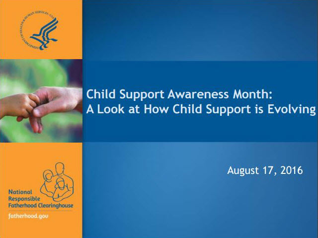 Cover of HHS/ACF Child Support Awareness Month: A look at How Child Support is Evolving