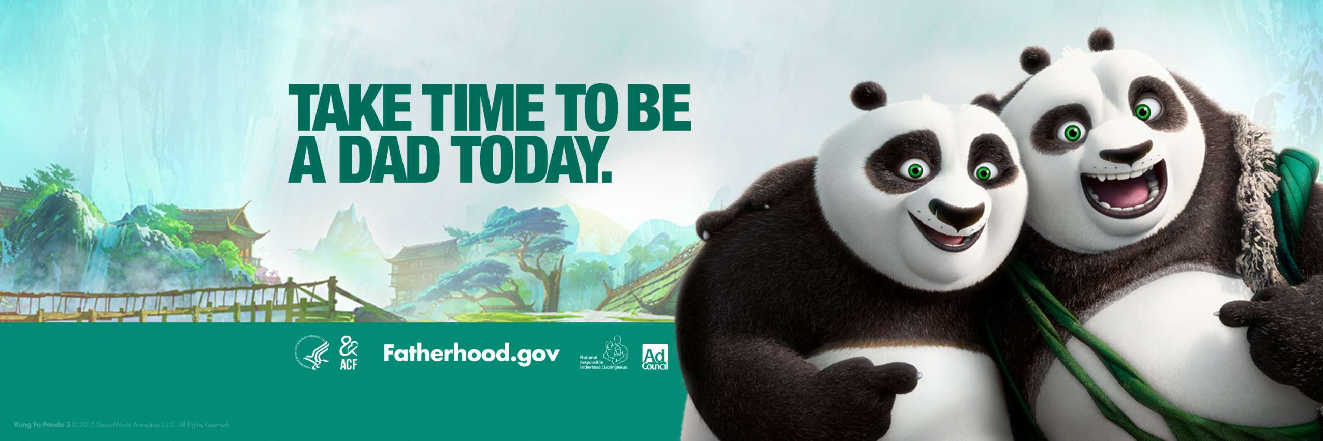 Kung Fu Panda 3, Po and His Dad Together, Take Time to Be a Dad Today, Fatherhood.Gov